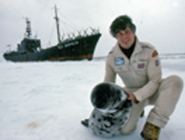 1983-Paul-on-Ice-with-Seal-and-SSII