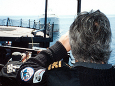1993-Grand-Banks---Paul-Watson-looking-thru-binoculars-at-Spanish-Trawler