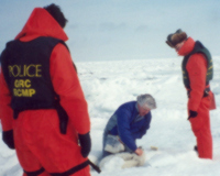 1996-Paul-Brushing-Seal-with-RCMP-1