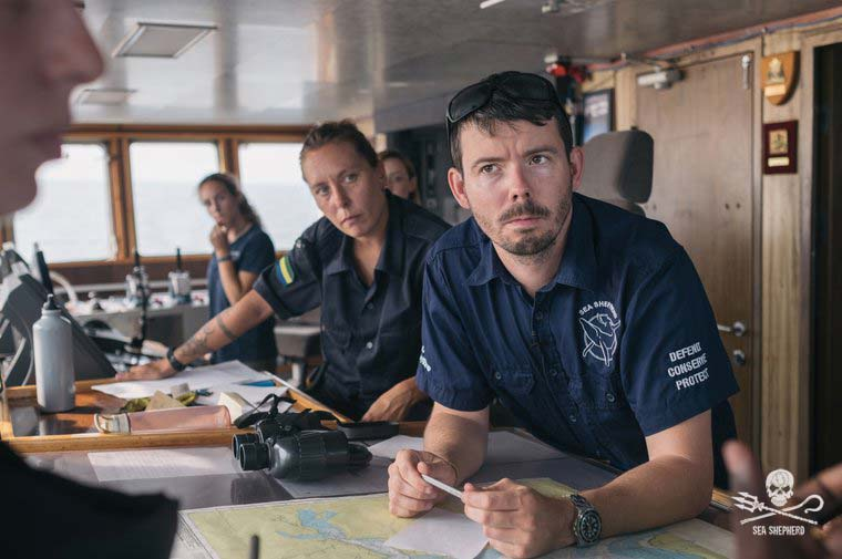 Captain Peter Hammarstedt. Fotos: Tony Fenn James/Sea Shepherd Global.